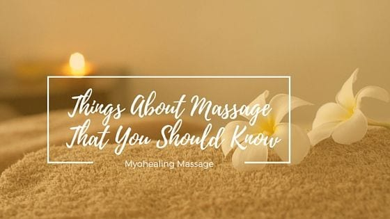 things about massage that you should know - banner