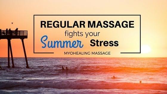 benefits of a summer massage - banner