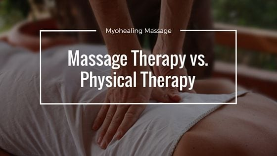 massage therapy vs physical therapy - banner
