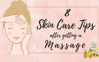 skin care steps after massage - banner