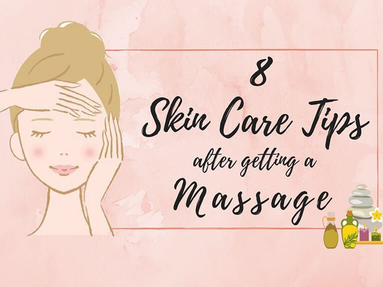 skin care steps after massage - banner