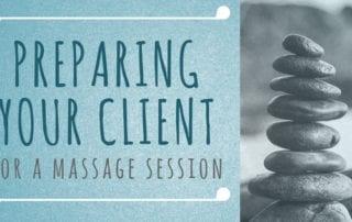 prepare, client, massage, massage session