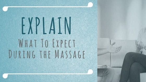 explain, massage, client, prepare