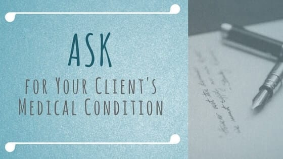 ask, massage, client, prepare